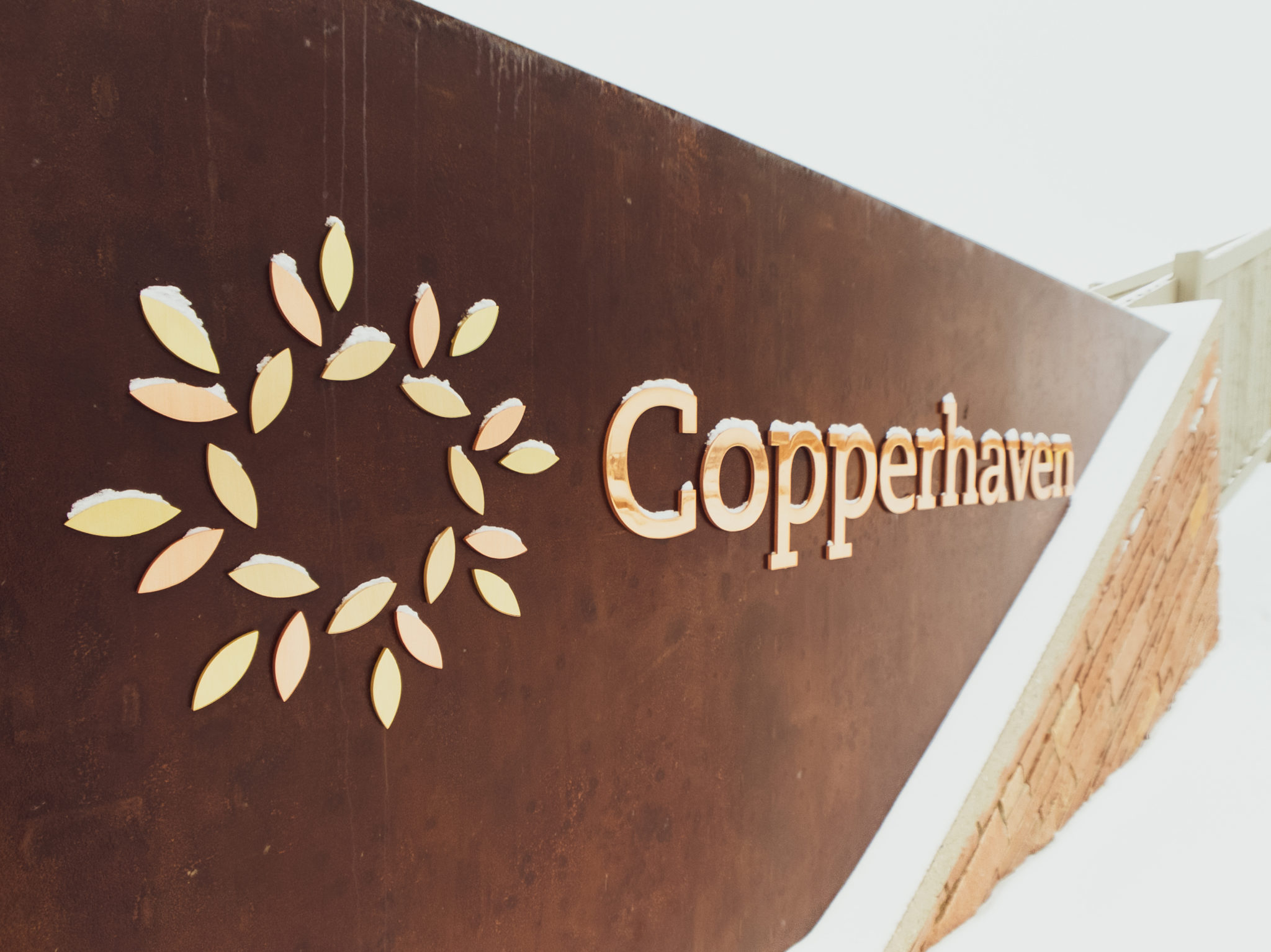 Neighbourhood entrance feature to Copperhaven