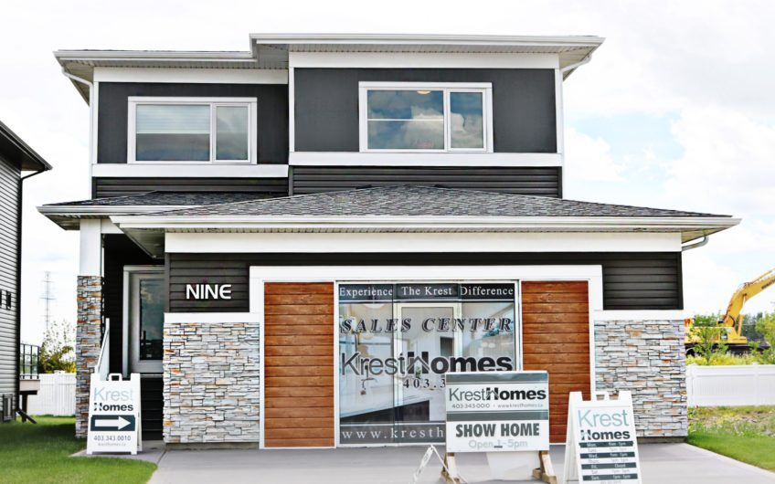 This 2,038 Sq ft two storey home offers 3 large bedrooms and 2.5 baths. A well balanced and simplistic exterior with contemporary architectural elements are incorporated in this home. They seamlessly horizontal bands add dimension to the curb appeal.