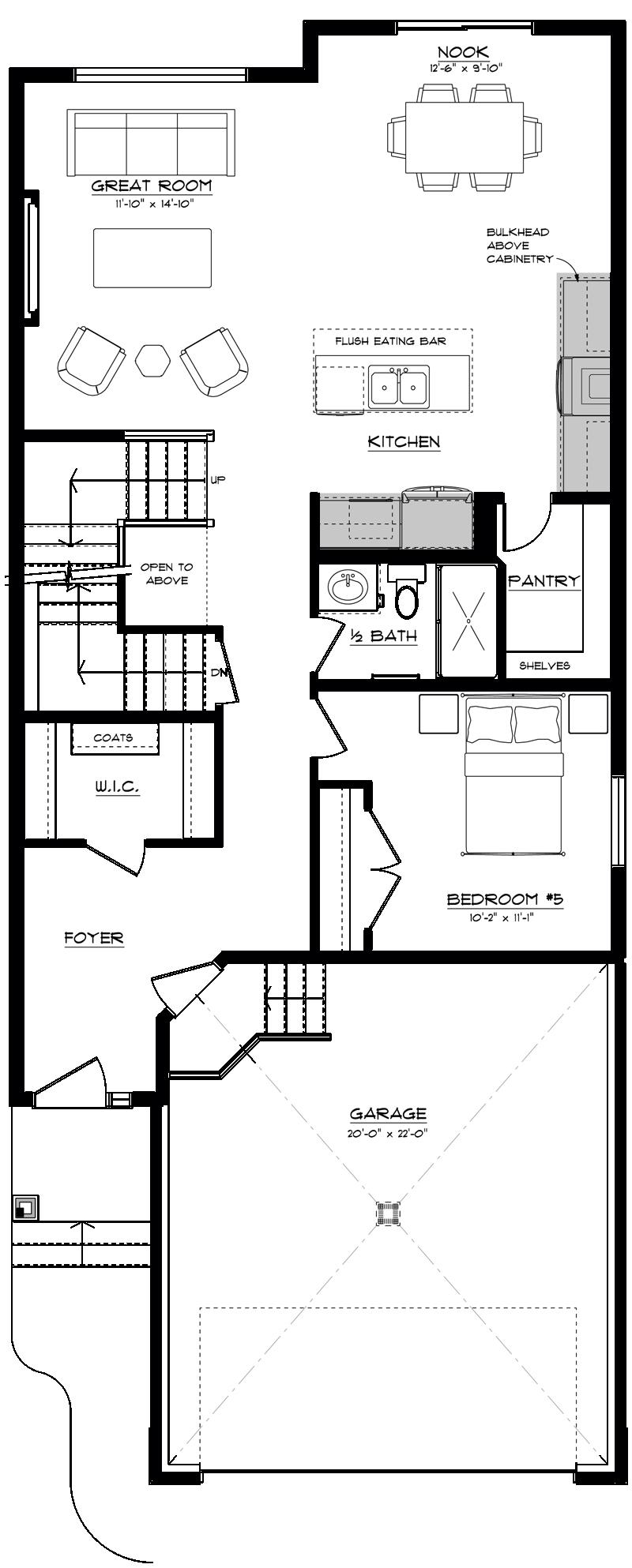 Floor Plan - Main floor bedroom