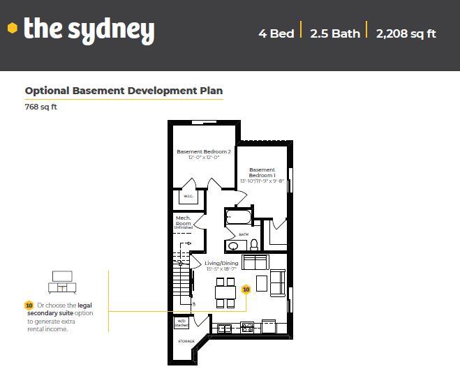 Floor Plan - Optional Basement Development